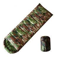 Спальный мешок одеяло с капюшоном камуфляж рр-168+32*70 см. SY-4062 s