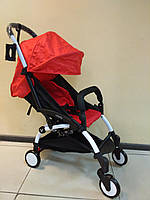 Детская коляска YOYA 175 Red, 3 ярусный капор, легкая, складная, компактная Йойа красная