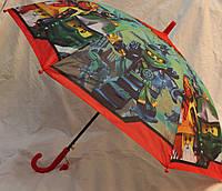Зонт Детский трость полуавтомат Ниньзяго 18-3123-7