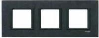 Рамка 3 поста Черный камень MGU68.006.7Z1 Schneider Electric Unica Class