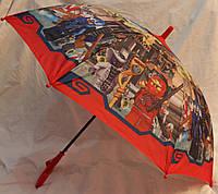 Зонт Детский трость полуавтомат Ниньзяго 18-3123-8