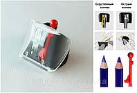 Точилка для косметичних олівців одинарна Butterfly Cascade of Colours чорна