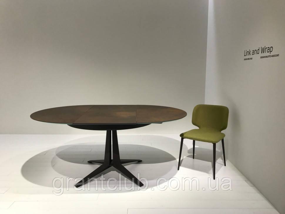 Круглый раскладной стол LINK 120/180 см с керамической столешницей фабрики MIDJ (Италия)