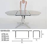 Круглый раскладной стол LINK 120/180 см с керамической столешницей фабрики MIDJ (Италия), фото 4