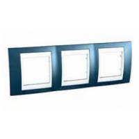 Рамка 3 поста Голубой лед MGU6.006.854 Schneider Electric Unica Plus