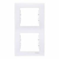 SCHNEIDER Рамка цвет Белый Sedna, 2 поста, SDN5801121