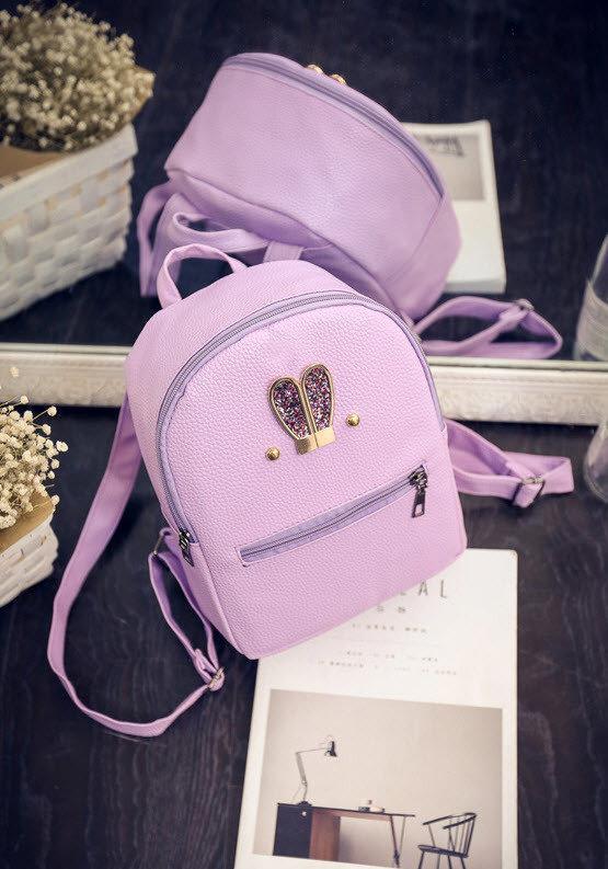 bb58542553f7 Дешево Не большой городской рюкзак с ушками в блестках. Хорошее качество.  Доступная цена.