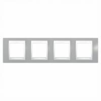 Рамка 4 поста Туманно-серый MGU6.008.865 Schneider Electric Unica Plus