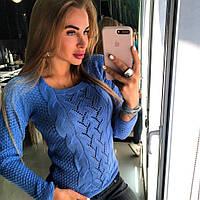 Свитер Doratti женский модный пряжа шерсть с акрилом разные цвета SSdor103