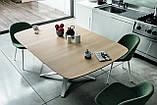 Круглый раскладной стол LINK 120/180 см с керамической столешницей фабрики MIDJ (Италия), фото 5