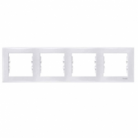 SCHNEIDER Рамка цвет Белый Sedna, 4 поста, SDN5800721