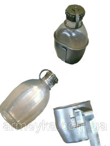 Армейская фляга с металлической кружкой. ВС Австрии, оригинал.