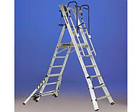 Лестницы и стремянки SVELT Двусторонняя телескопическая лестница-помост SVELT TELEPIR 5 ступеней