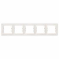 SCHNEIDER Рамка цвет Слоновая кость Sedna, 5 постов, SDN5800923