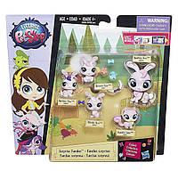 Лител Пет Шоп Игровой набор семья зайчиков Маленький зоомагазин Littlest Pet Shop Surprise Families