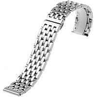 Браслет для часов из нержавеющей стали, литой, полированный. 22-й размер.