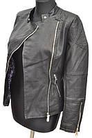 Куртка из кожзама с  вышивкой № 1701