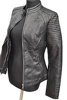 Молодёжная женская куртка из искусственной кожи № 1711