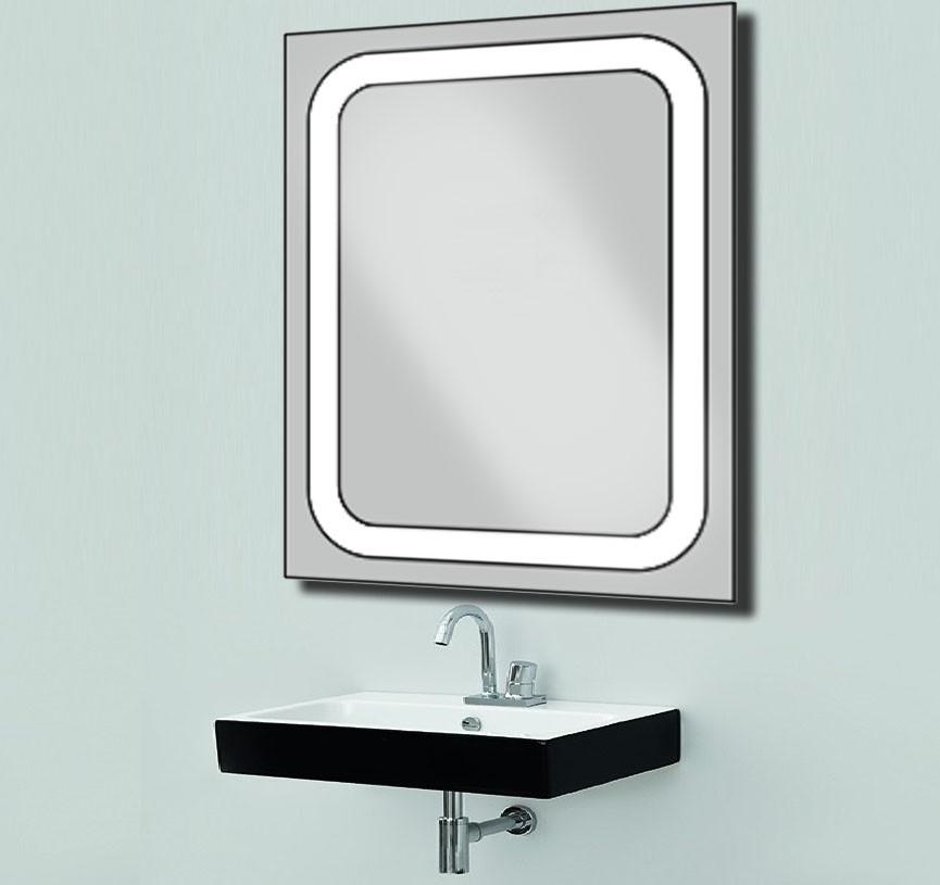 Дзеркало з лэд підсвічуванням для ванної кімнати d-55