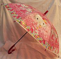 Зонт Детский трость полуавтомат Китти 18-3124-4