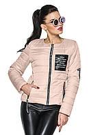 Стильная демисезонная куртка с нашивками 42-54 размер