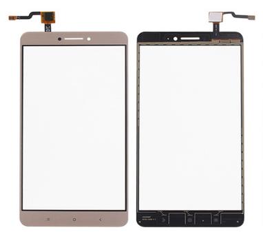 Сенсор (тачскрин) для Xiaomi Mi Max золотистый