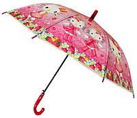 Зонт Детский трость полуавтомат Китти 18-3124-6