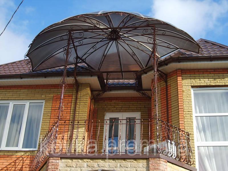 Купить кованый навес над балконом в винницкой области от ком.