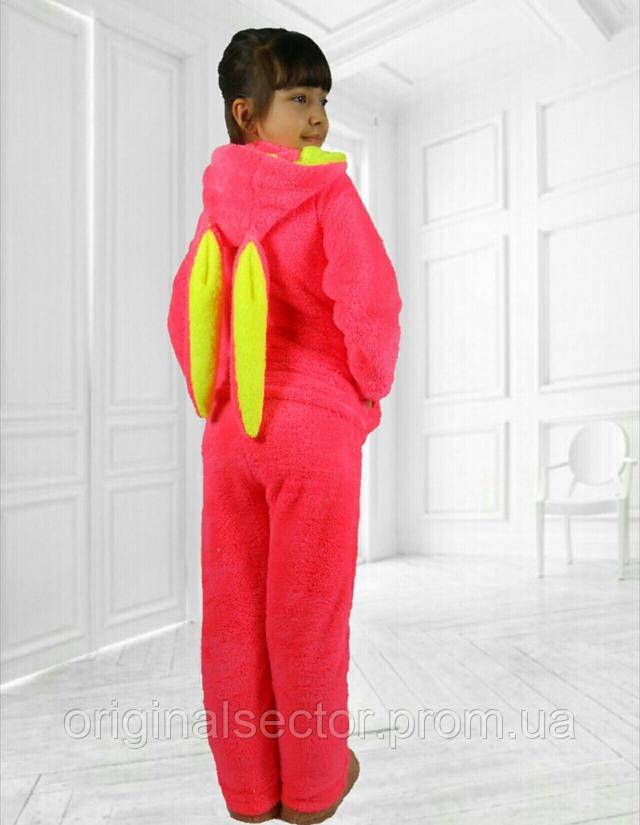 детская махровая пижами розовая