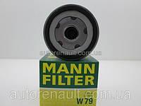 Фильтр масляный, Рено Трафик 1.9 dci MANN-FILTER W79