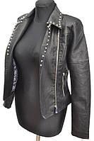 Куртка из кожзама женская № 1708