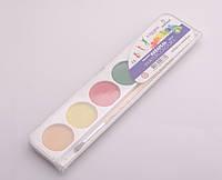 Краски акварельные медовые, 6 цветов + кисточка