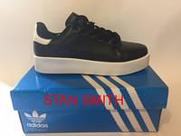 Женские кроссовки Adidas черные Stan snith