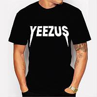 Футболка Yeezus Kanye West Yeezy черная с логотипом мужская,женская,детская