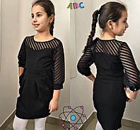 Школьное платье для девочки сеточка 2 цвета