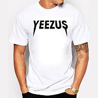 Футболка Yeezus Kanye West Yeezy белая с логотипом мужская,женская,детская