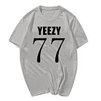 Футболка Yeezus Kanye West Yeezy серая с логотипом мужская,женская,детская