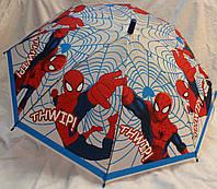 Зонт Детский трость матовый полуавтомат Человек Паук 18-3126-3