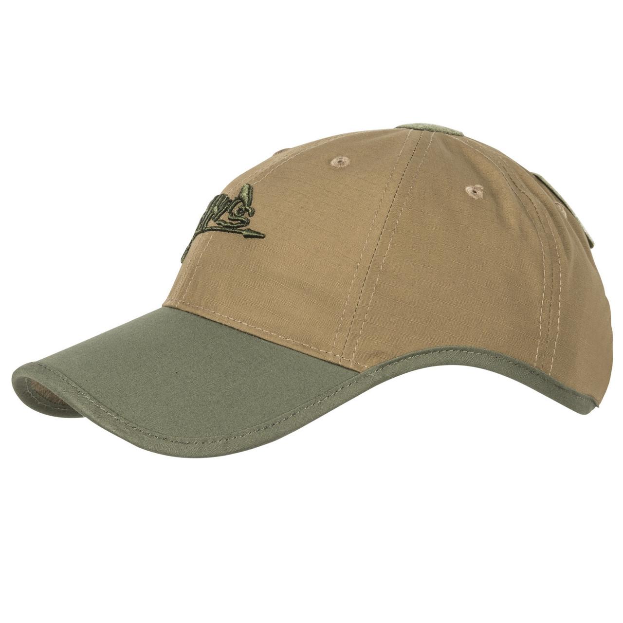 Тактическая бейсболка Helikon-Tex® Logo Cap - PolyCotton Ripstop - Койот/Олива