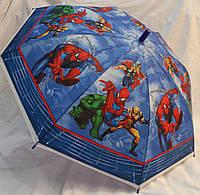Зонт Детский трость матовый полуавтомат Человек Паук 18-3126-4