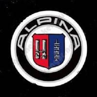 Диодная подсветка дверей с логотипом авто Alpina