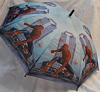 Зонт Детский трость матовый полуавтомат Человек Паук 18-3126-8