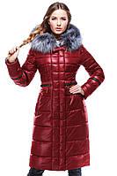 """Женское зимнее пальто с натуральнім мехом""""Амина 2"""""""