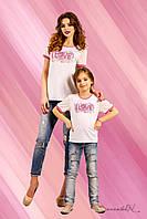 Модная футболка для девочки, для мам и дочек