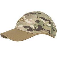 Тактическая бейсболка Helikon-Tex® Logo Cap - PolyCotton Ripstop - Мультикам/Койот