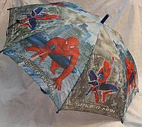 Зонт Детский трость матовый полуавтомат Человек Паук 18-3126-11