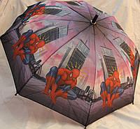 Зонт Детский трость матовый полуавтомат Человек Паук 18-3126-12
