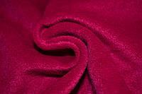 Пальтовая ткань с ворсом малиновая