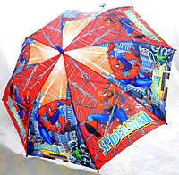 Зонт Детский трость матовый полуавтомат Человек Паук 18-3126-13