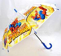 Зонт Детский трость матовый полуавтомат Человек Паук 18-3126-14